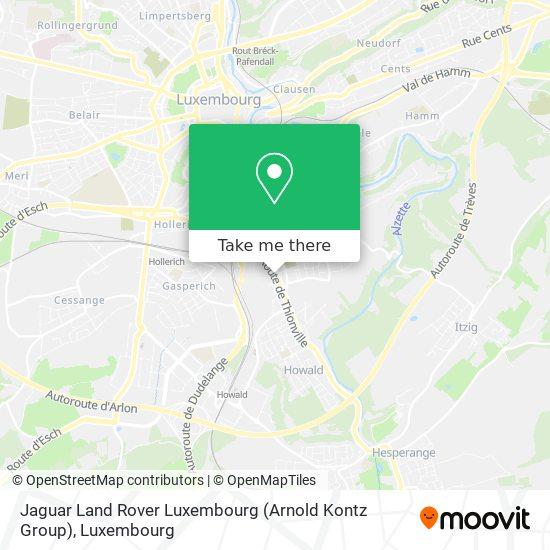 Jaguar Land Rover Luxembourg (Arnold Kontz Group) map