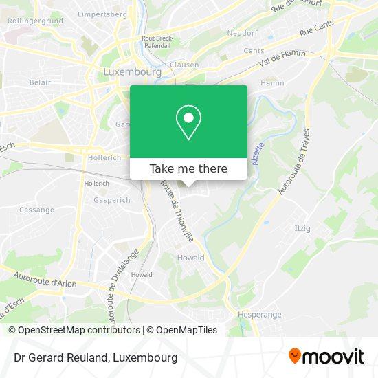 Dr Gerard Reuland map