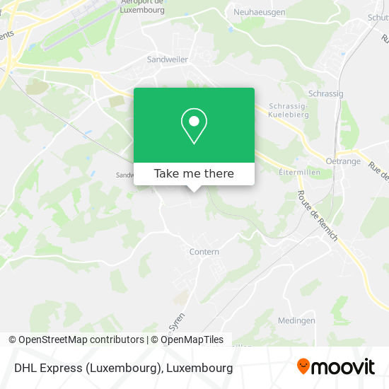 DHL Express (Luxembourg) map