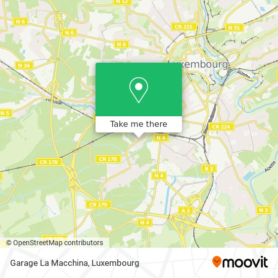 Garage La Macchina map