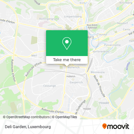 Deli Garden map