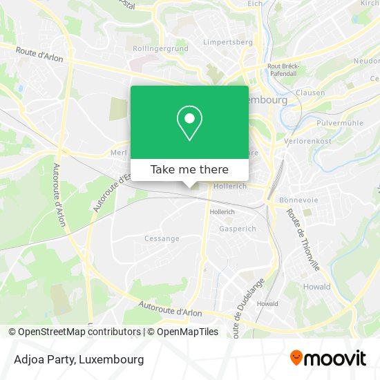 Adjoa Party map
