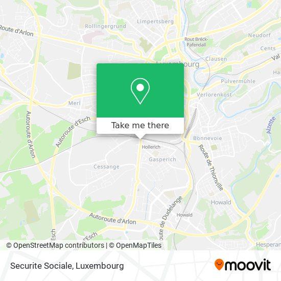 Securite Sociale map