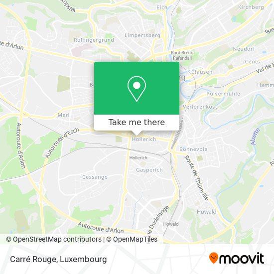 Carré Rouge map