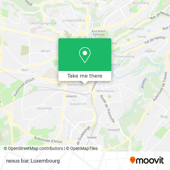 nexus bar map
