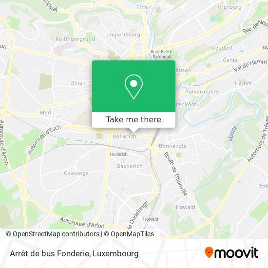 Arrêt de bus Fonderie map