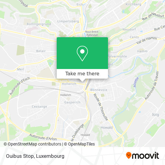 Ouibus Stop map