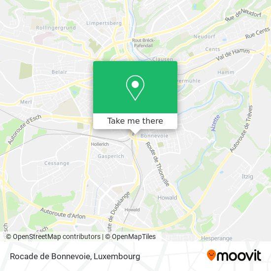 Rocade de Bonnevoie map