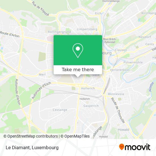 Le Diamant mapa