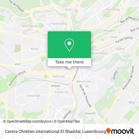 Centre Chrétien international El Shaddaï map