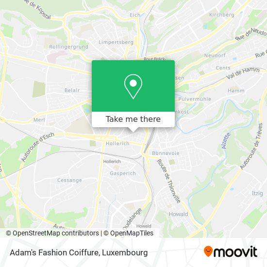 Adam's Fashion Coiffure map