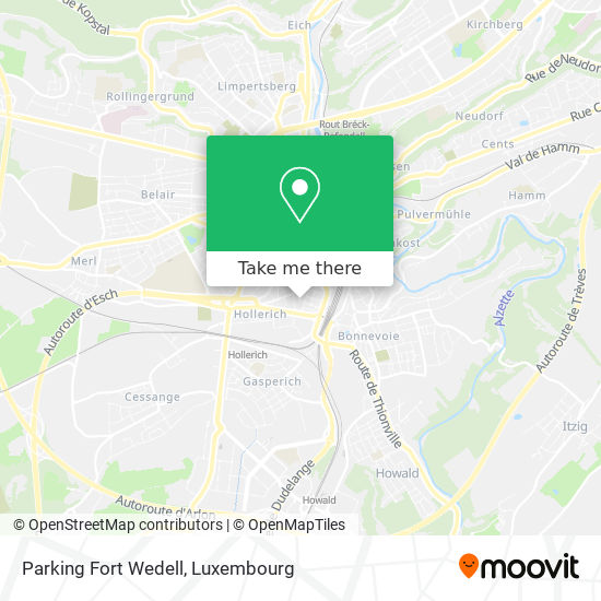Parking Fort Wedell map
