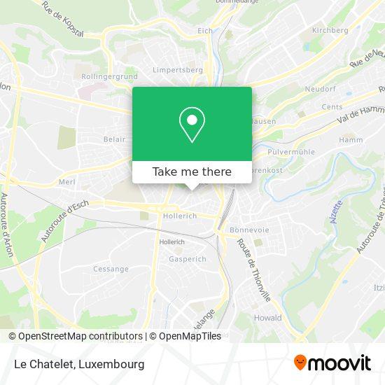 Le Chatelet map