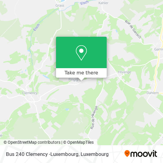 Bus 240 Clemency -Luxembourg map