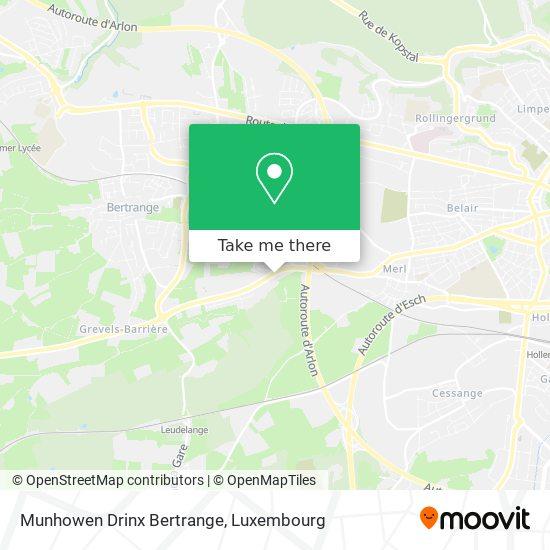 Munhowen Drinx Bertrange map