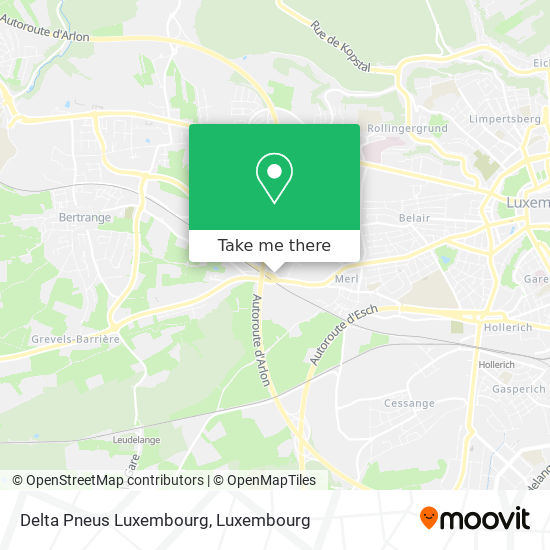 Delta Pneus Luxembourg map