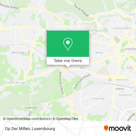 Op Der Millen mapa