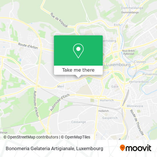 Bonomeria Gelateria Artigianale map