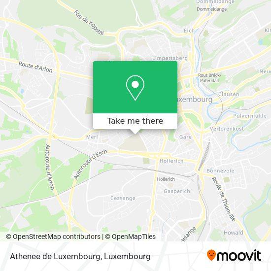Athenee de Luxembourg mapa