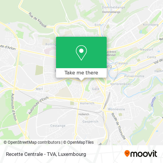 Recette Centrale - TVA map