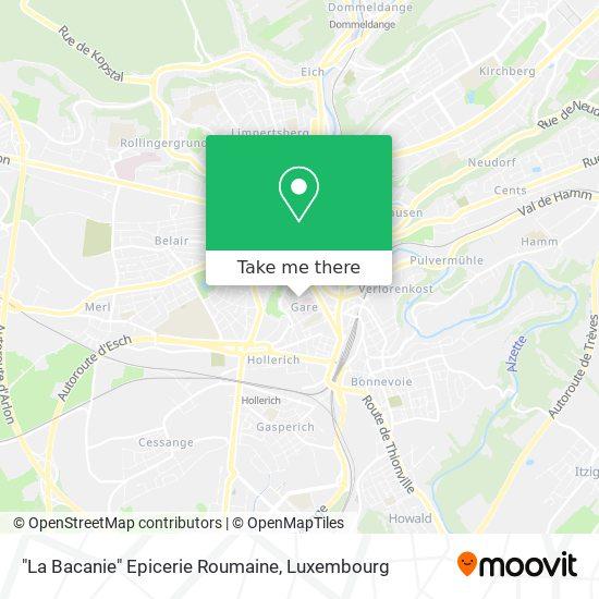 """""""La Bacanie"""" Epicerie Roumaine map"""