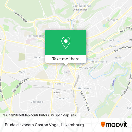 Etude d'avocats Gaston Vogel map