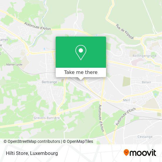Hilti Store map