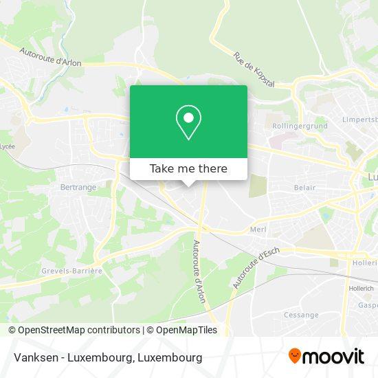 Vanksen - Luxembourg Karte