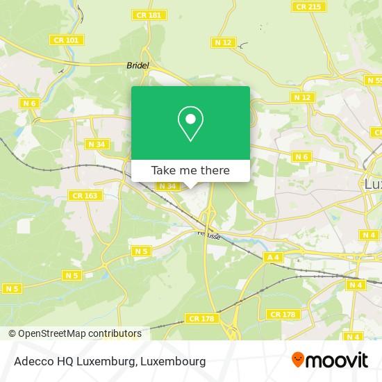 Adecco HQ Luxemburg Karte
