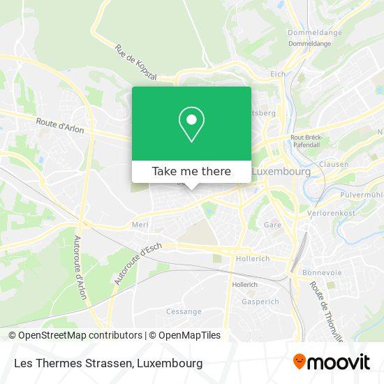 Les Thermes Strassen Karte