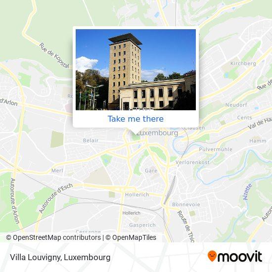 Villa Louvigny map