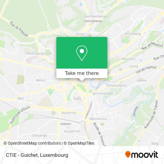 CTIE - Guichet map