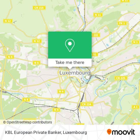 KBL European Private Banker map