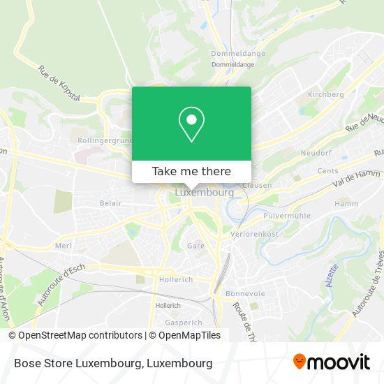 Bose Store Luxembourg map