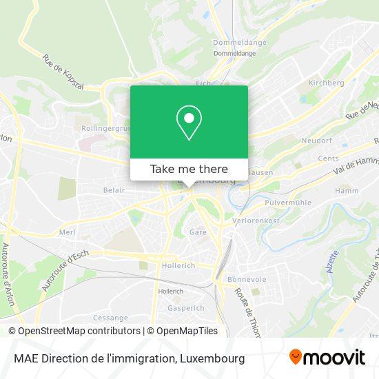 MAE Direction de l'immigration map