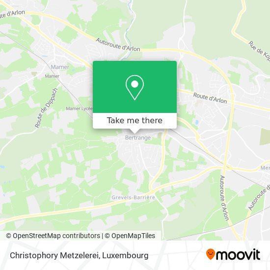 Christophory Metzelerei mapa