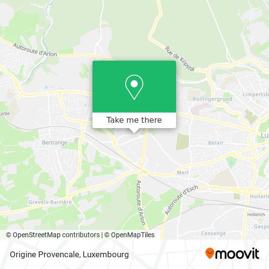 Origine Provencale map