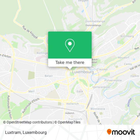 Luxtram map