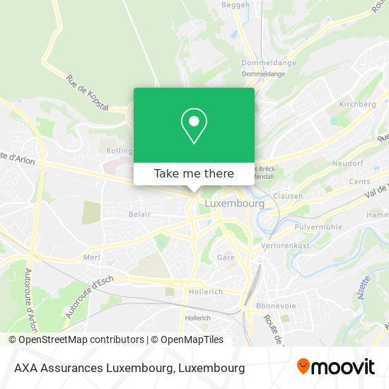 AXA Assurances Luxembourg map