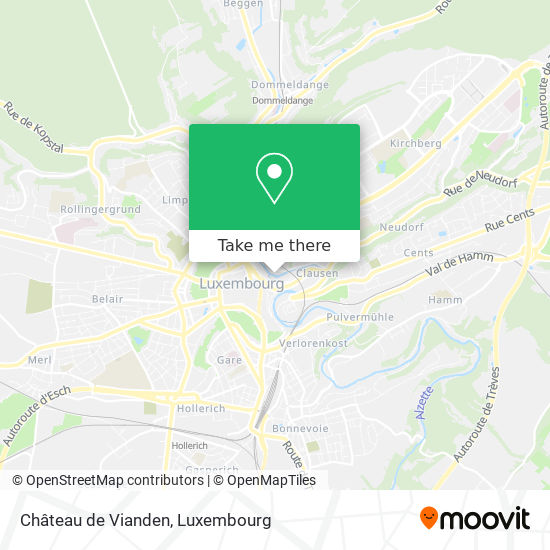 Château de Vianden map
