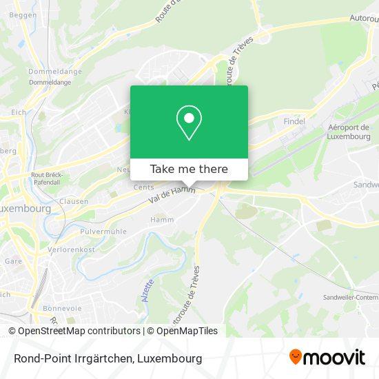 Rond-Point Irrgärtchen map