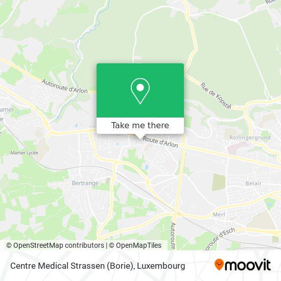 Centre Medical Strassen (Borie) map