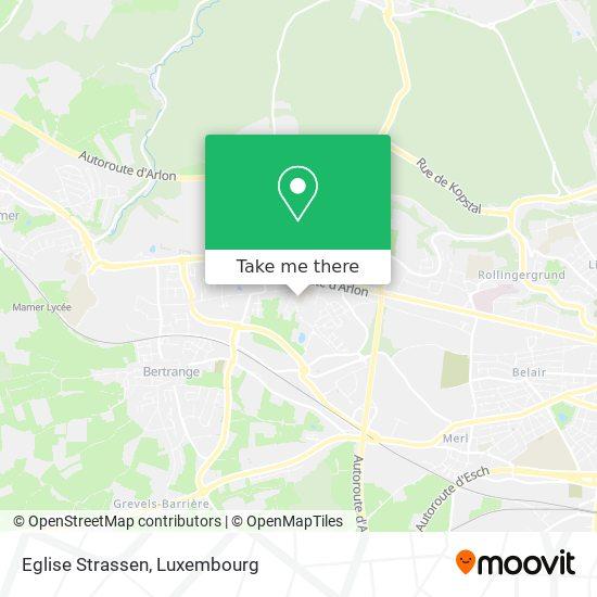 Eglise Strassen map