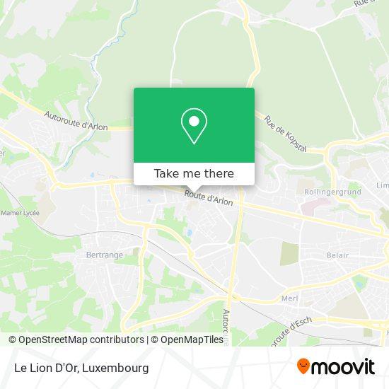 Le Lion D'Or map