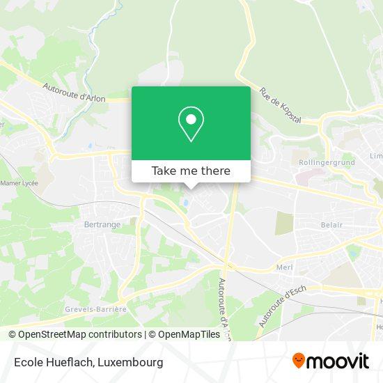 Ecole Hueflach map
