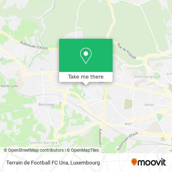 Terrain de Football FC Una mapa
