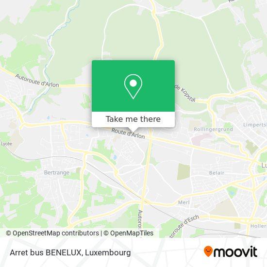 Arret bus BENELUX map