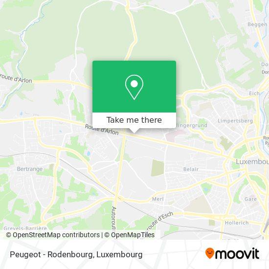 Peugeot - Rodenbourg map