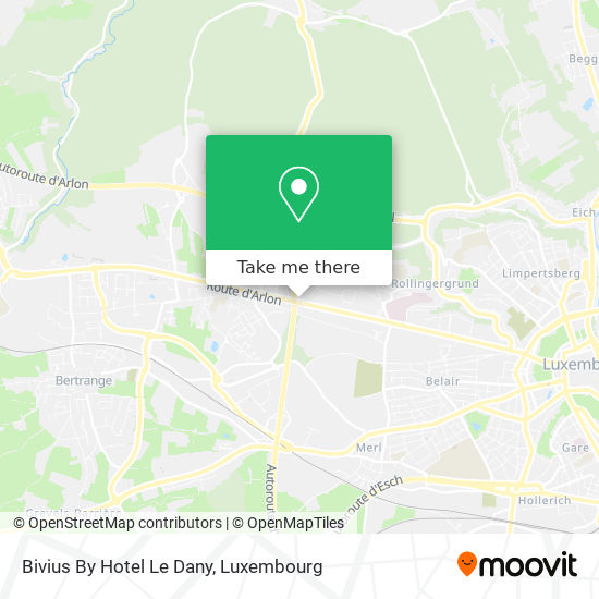 Bivius By Hotel Le Dany map