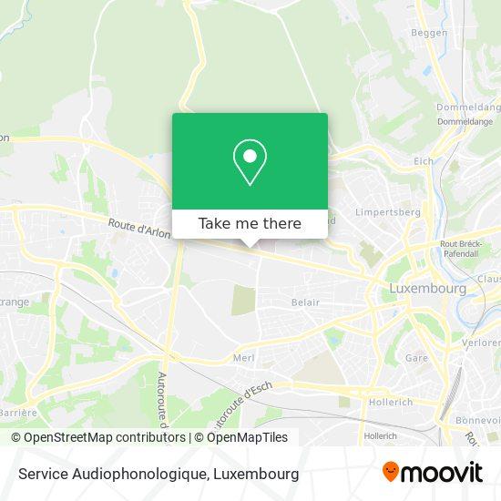 Service Audiophonologique map